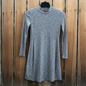 Madewell Cityblock grey long sleeve dress xs